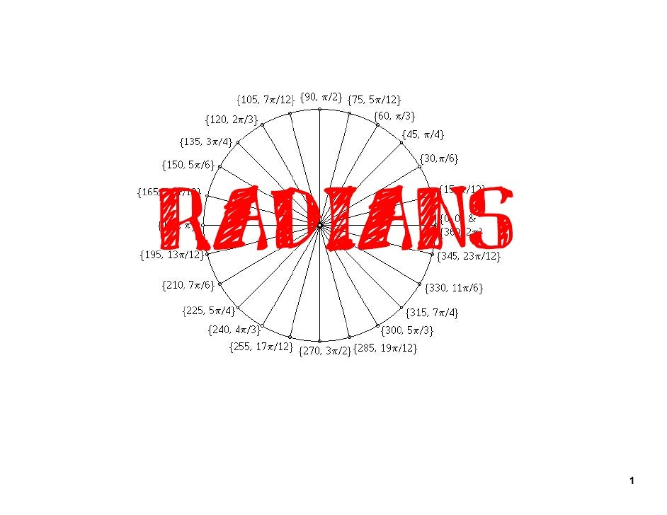 Why Radians