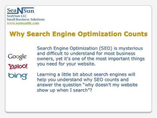 Why Search Engine Optimization Counts