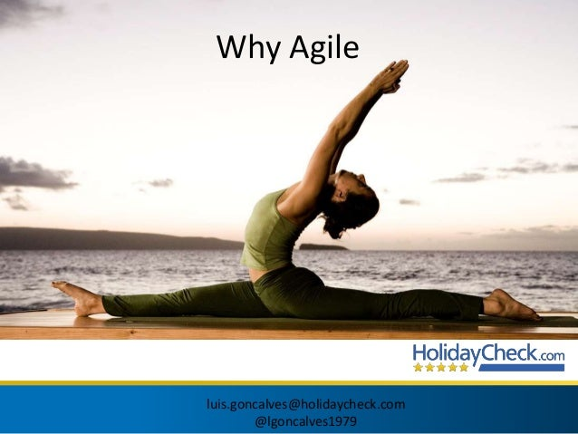 Why Agile  luis.goncalves@holidaycheck.com  @lgoncalves1979