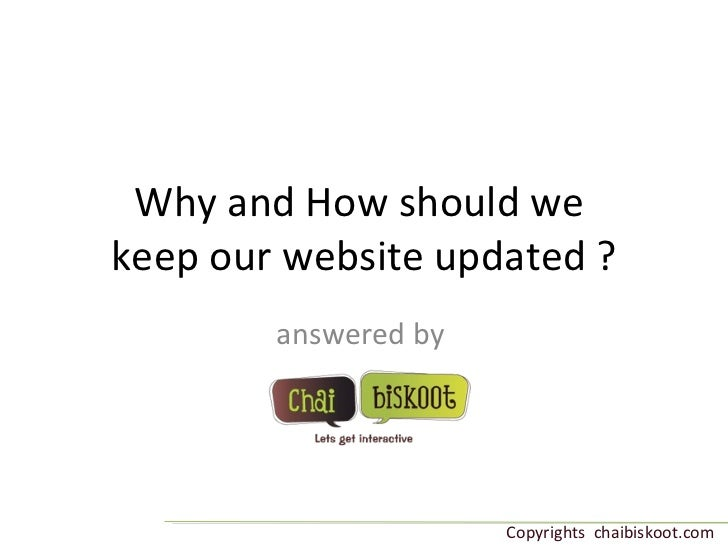 Why and how should we keep our website updated