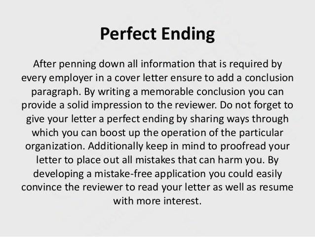 ending a cover letter covering letter ending entry level ...