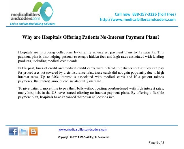 Why are Hospitals Offering Patients No-Interest Payment Plans?