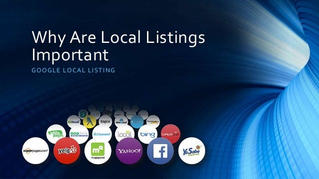 Why Are Local Listings Important GOOGLE LOCAL LISTING