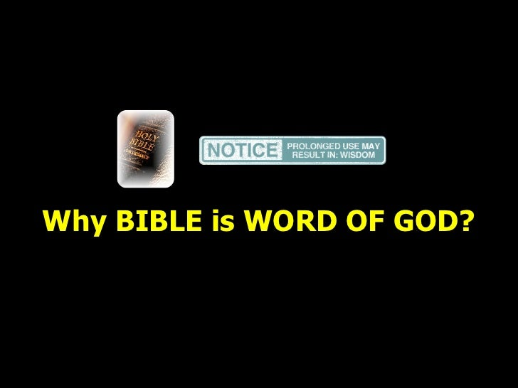 Why bible is word of god