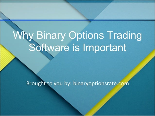 Best binary option trading software