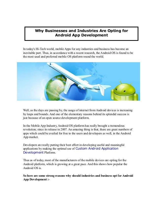 Why Businesses and Industries Are Opting for Android App Development