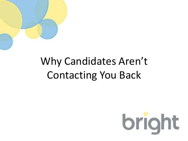 Why Candidates Aren't Contacting You Back