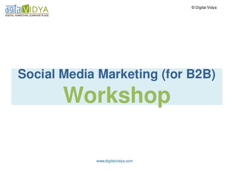 Why care about Social Media Marketing (for B2B)?