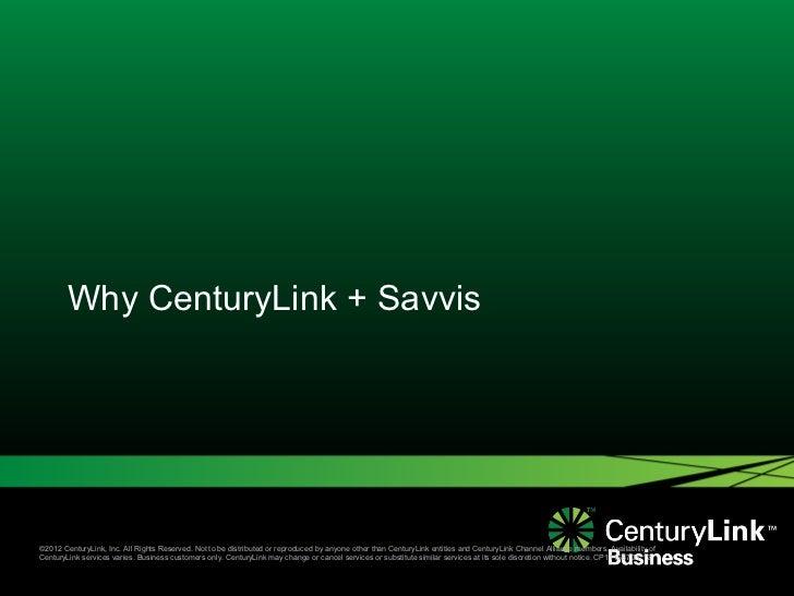 Why CenturyLink Savvis Cloud Leader
