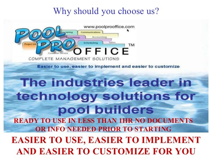 Why should you choose us? EASIER TO USE, EASIER TO IMPLEMENT AND EASIER TO CUSTOMIZE FOR YOU READY TO USE IN LESS THAN 1HR...