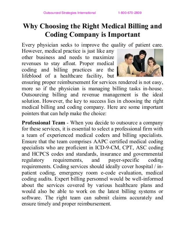 Why Choosing the Right Medical Billing and Coding Company is Important
