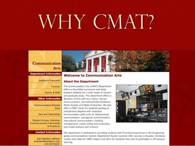 Why CMAT?
