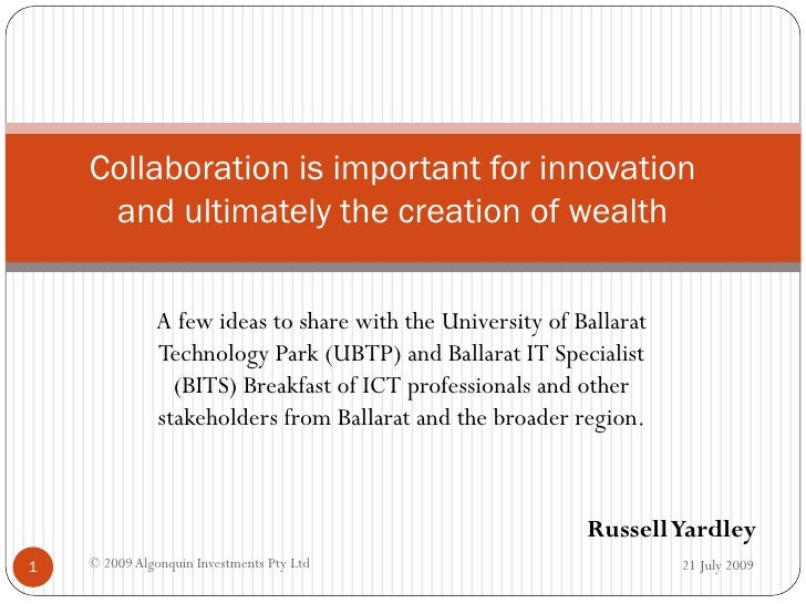 Why Collaborating Is So Important For Innovation