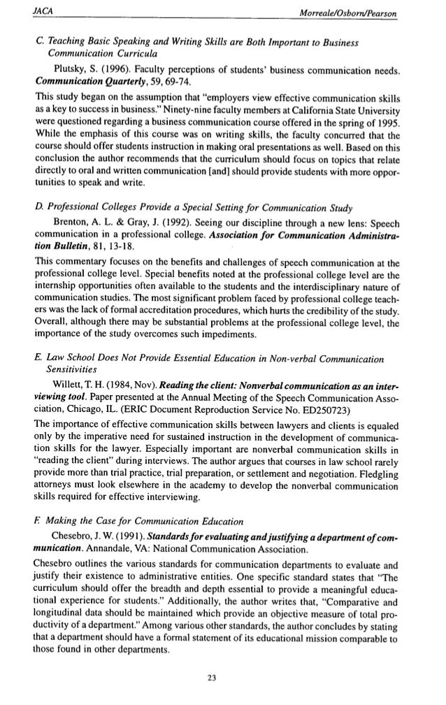research papers on effective communication Communication always played an important role in the life of people contributing to their socialization and establishment of positive relationships at the same time, it is not a secret that communication is quite a complicated process and it is not always possible to use its power properly.