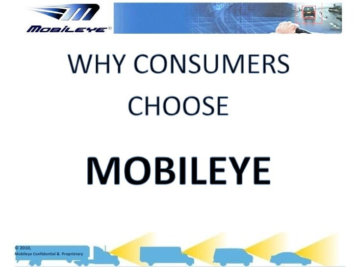 Why consumers choose mobileye