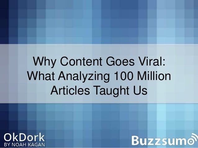 Why content goes viral