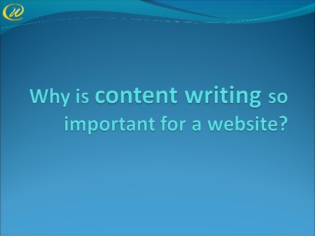Why Content Writing is Important