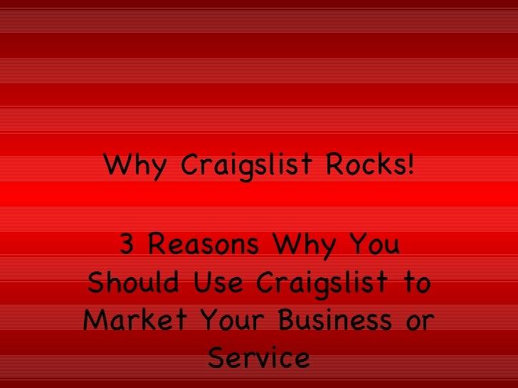 Why Craigslist Rocks