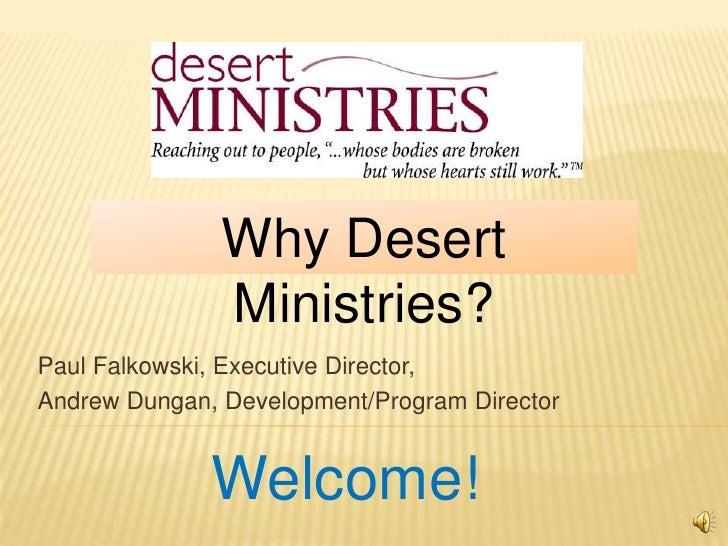 Why Desert Ministries