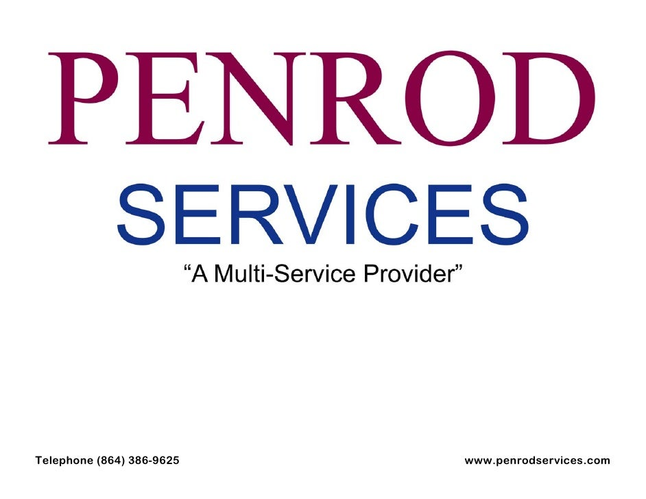 Telephone (864) 386-9625   www.penrodservices.com