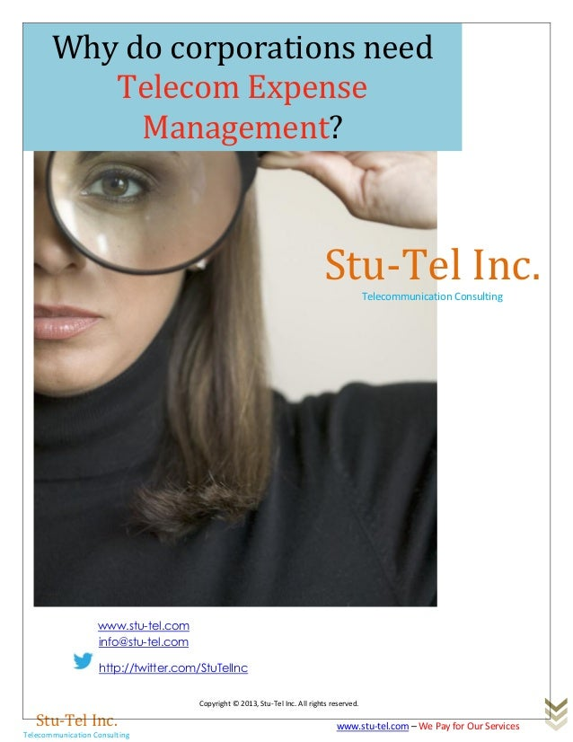 Why does your corporation need telecom expense management