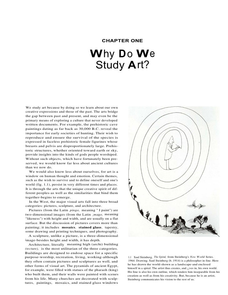 CHAPTER ONE                                              Why Do We                                            Study Art?  ...