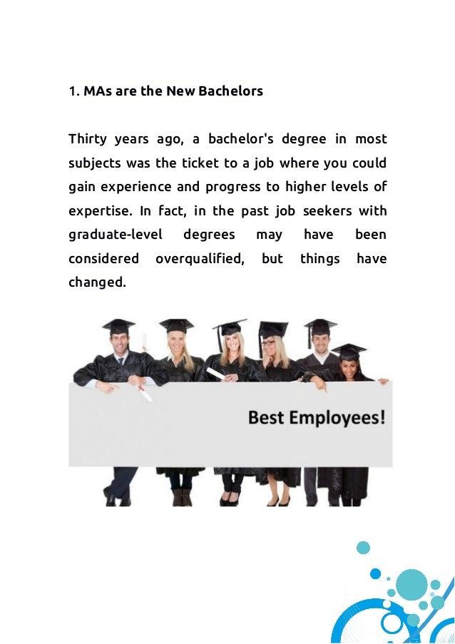 Masters level degree