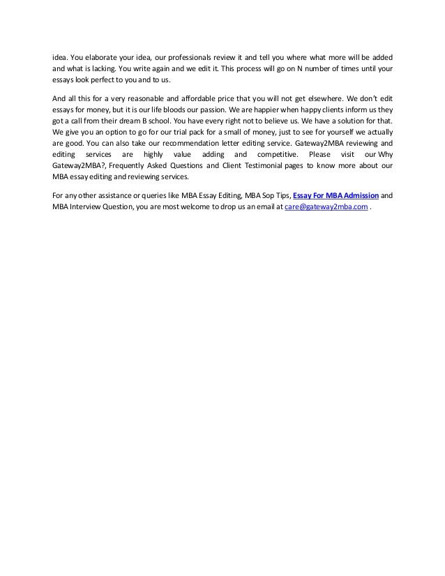 MBA Essay-Writing Service