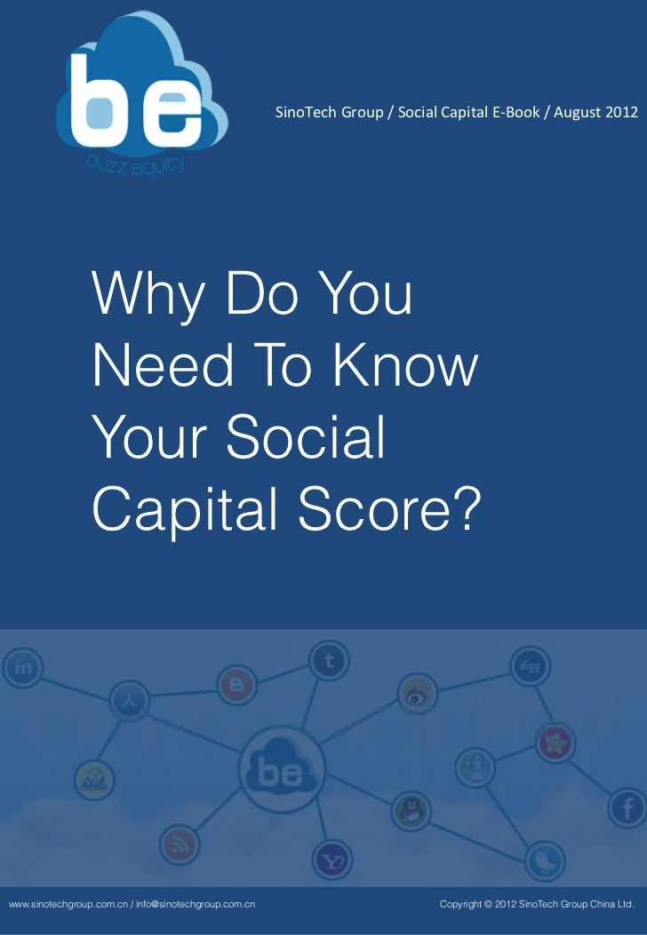 Why do you need to know your Social Capital Score ?