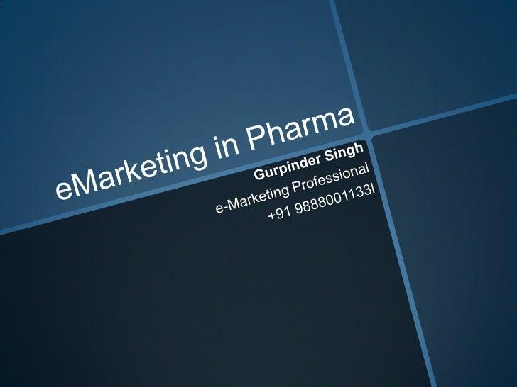 Pharmaceutical e-Marketing