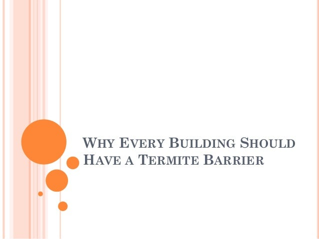 Why Every Building Should Have a Termite Barrier