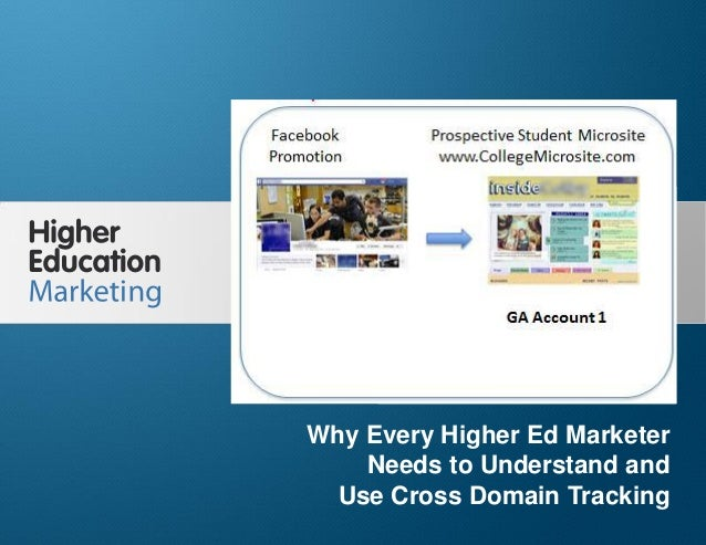 Why Every Higher Ed Marketer Needs to Understand and Use Cross Domain Tracking Slide 1 Why Every Higher Ed Marketer Needs ...