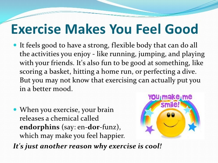 Why Exercise Is Cool