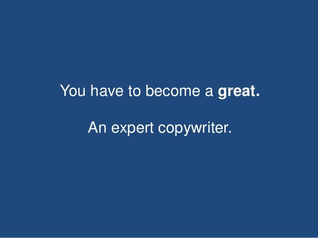 Copywriting is