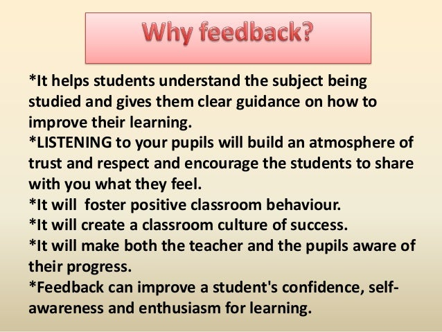 *It helps students understand the subject being studied and gives them clear guidance on how to improve their learning. *L...