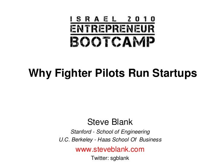Why fighter pilots run startups
