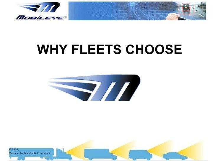 Why fleets choose mobileye