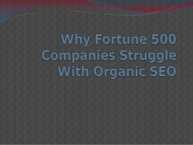 Great SEO Post From Search Engine Watch―The firm I work with recently issued organicsearch rankings for the world's leadin...