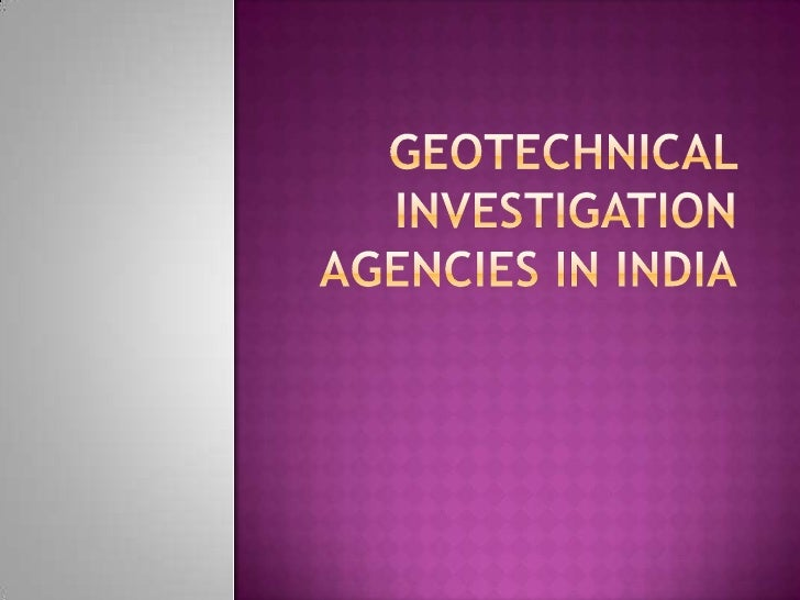 Why geo technical investigation is important