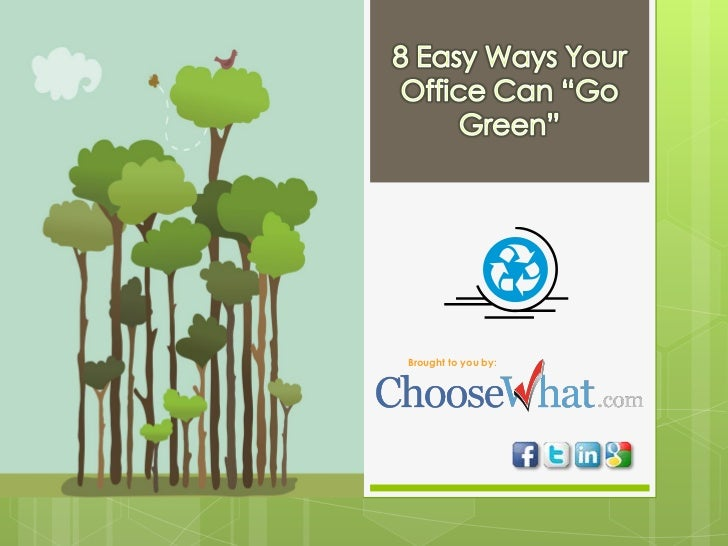 Why Go Green - 8 Steps to an Eco-Friendly Office