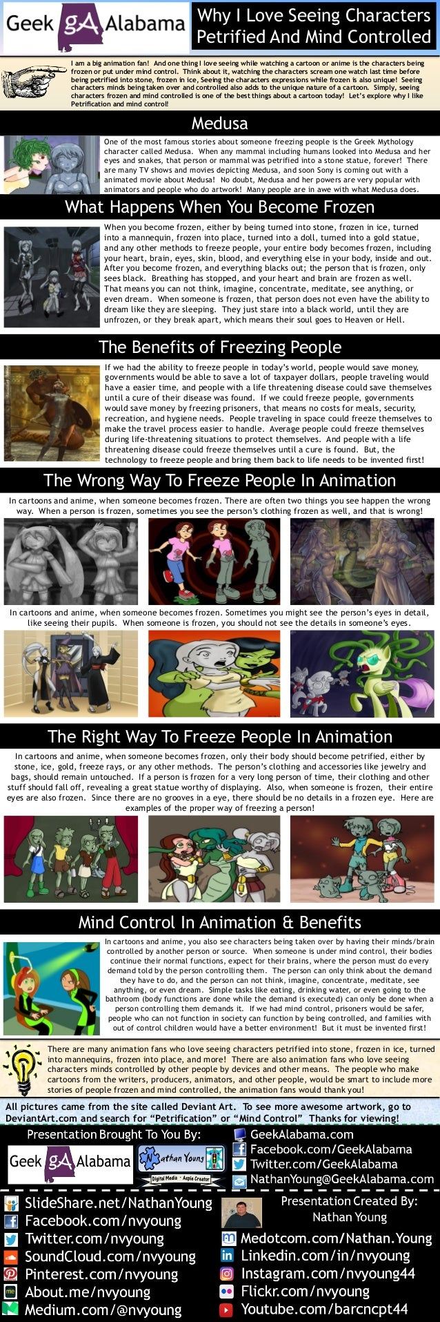 Why I Love Seeing Cartoon Characters Petrified And Mind Controlled