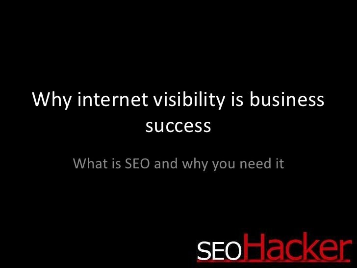 Why internet visibility is business success<br />What is SEO and why you need it<br />