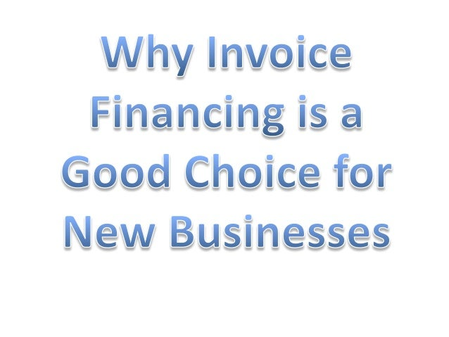A lot of new businesses don't always have the cash to sit on while they wait for slow customers to pay on their invoices. ...