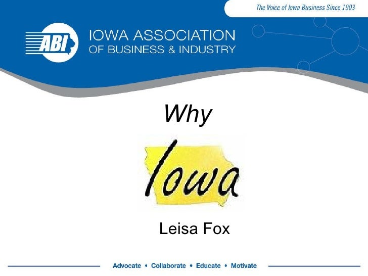 Why Iowa 09 Updated