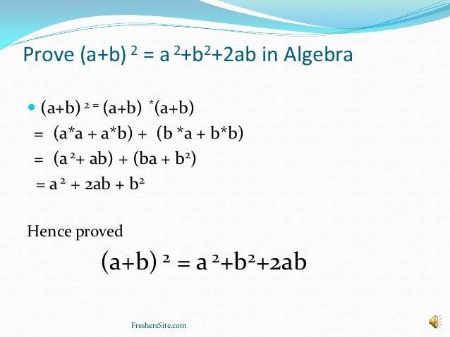 Why Is Ab2 A2b22ab on Point Math