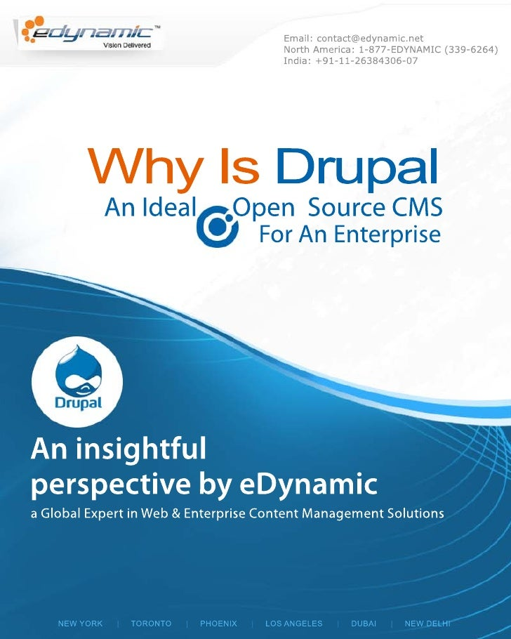 Why is drupal an ideal open source cms for an enterprise