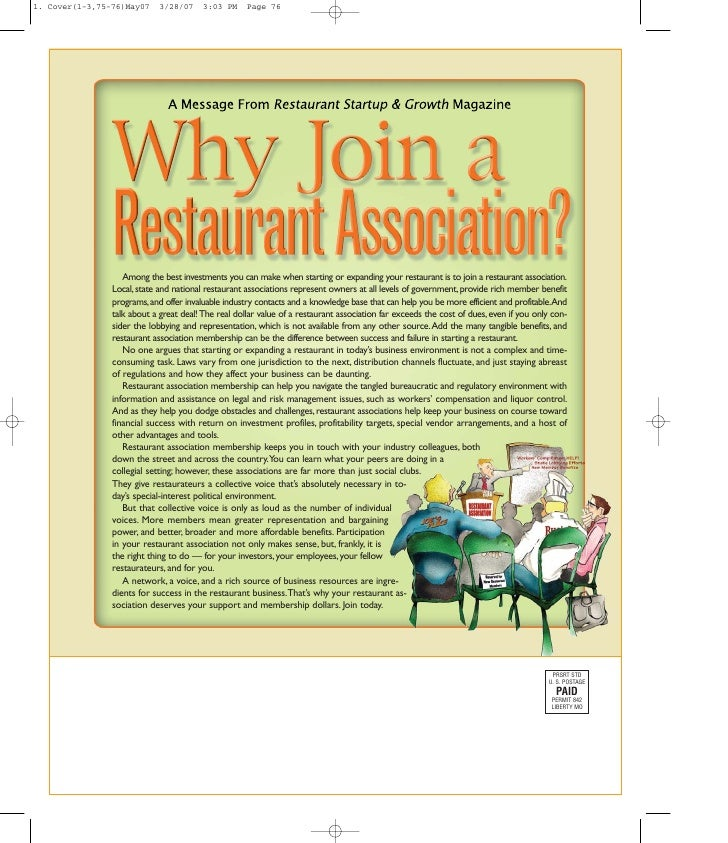 Among the best investments you can make when starting or expanding your restaurant is to join a restaurant association. Lo...