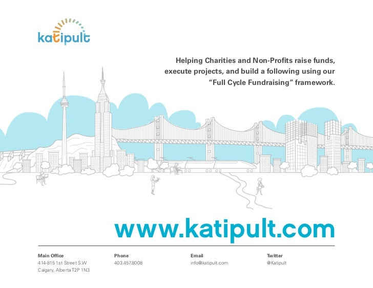 Helping Charities and Non-Profits raise funds,                                          execute projects, and build a follo...