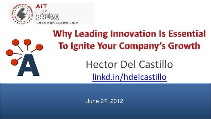 Hector Del Castillo                 linkd.in/hdelcastillo               June 27, 2012© AIPMM 2012