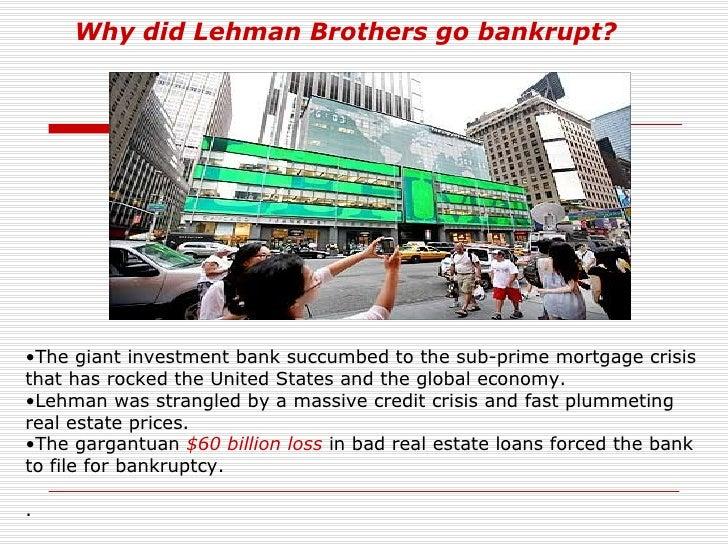 Lehman brothers collapse analysis essay